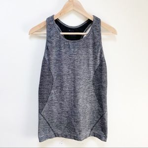 Zella charcoal gray athletic tank top L